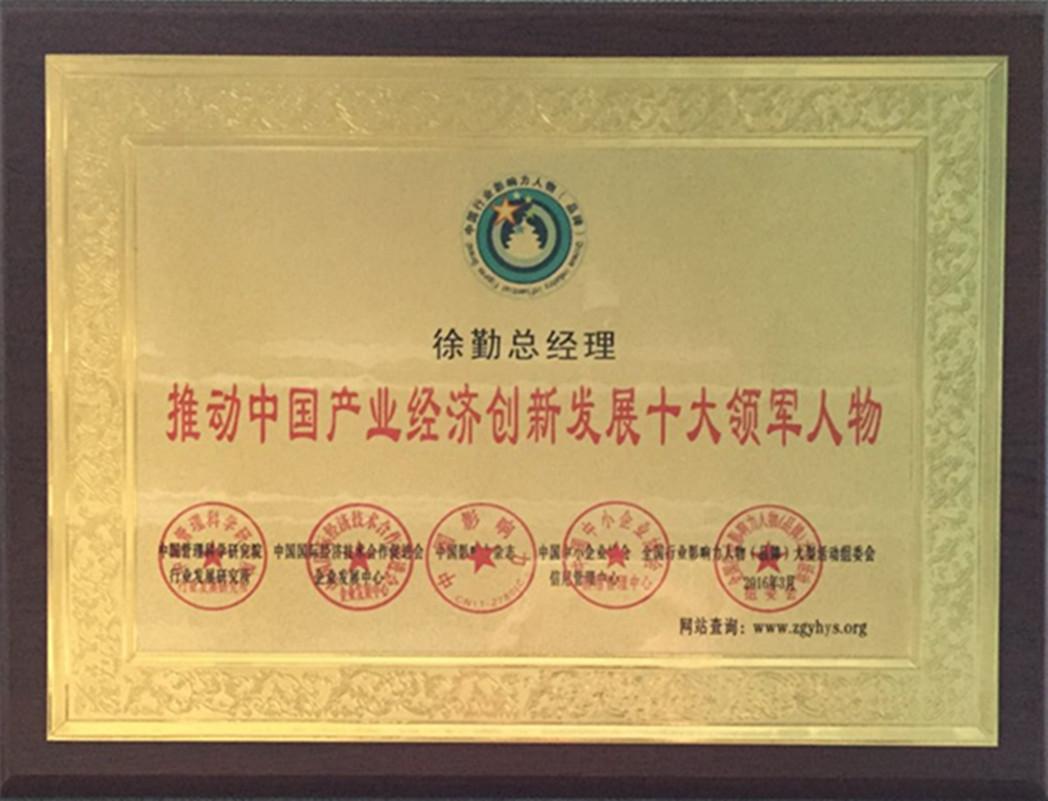 推动中国产业经济创新发展十大领军人物
