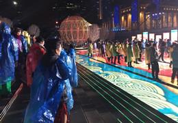 央视春晚上海分会场 雨中排练花絮