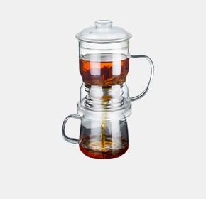 茶水分离杯-玻璃套装款
