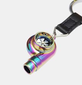 创意口哨涡轮钥匙扣