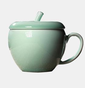 龙泉青瓷茶杯创意苹果水杯