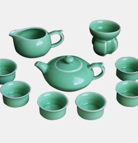 龙泉青瓷功夫茶具陶瓷套装