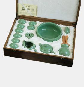 青瓷陶瓷茶具十四件套装