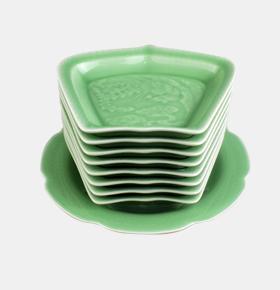 青瓷拼盘餐具套装