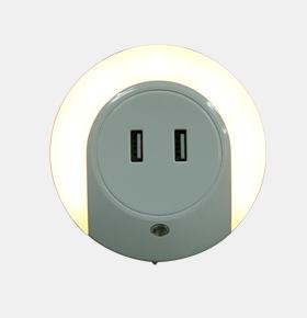led光控小夜灯充电器