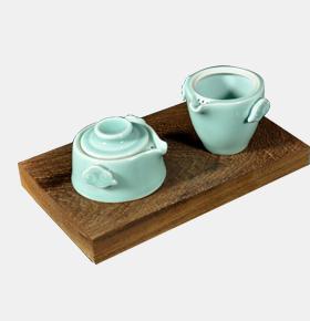 龙泉青瓷快客杯旅行便携陶瓷茶具套装