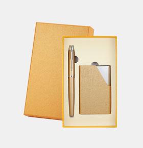 商务礼品套装 笔+名片夹