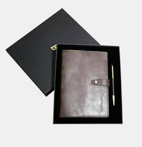 商务笔记本套装 笔记本+金属盖章笔