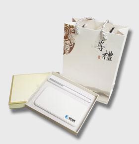 智能电子礼品套装多接口充电宝+精致签字笔