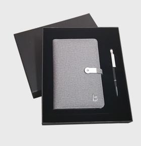 智指尖mini充电记事本+360°手机支架笔套装